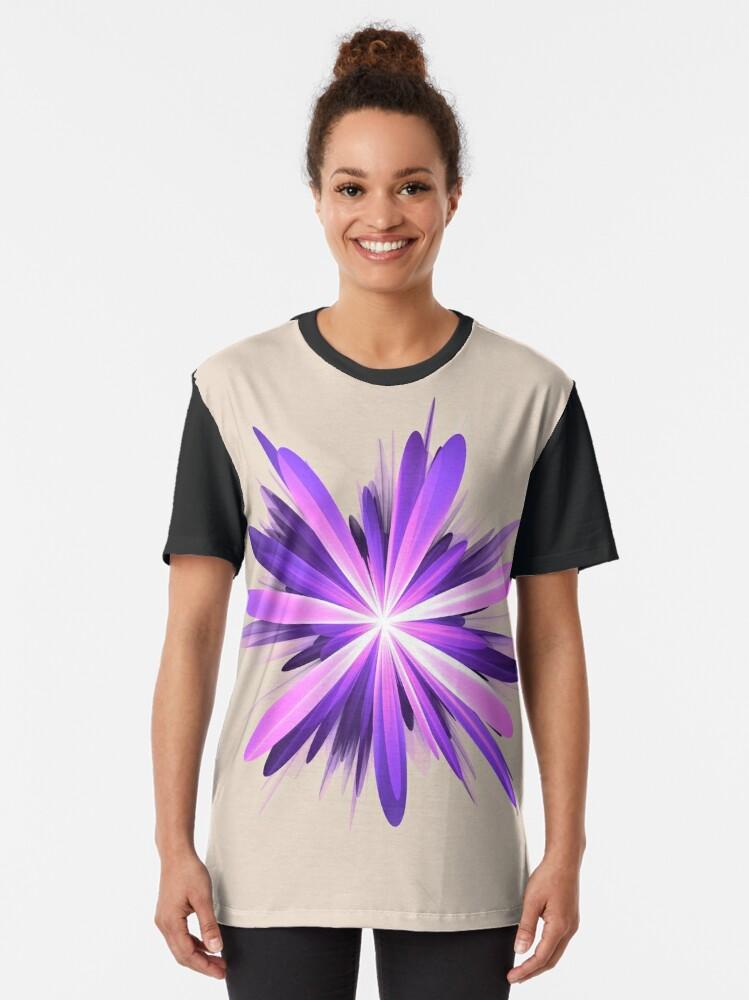 Alternate view of Flower blast #fractal art Graphic T-Shirt