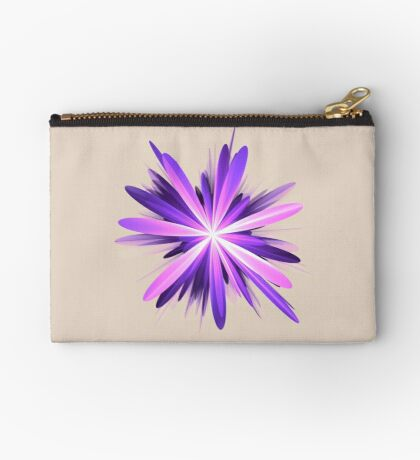 Flower blast #fractal art Zipper Pouch