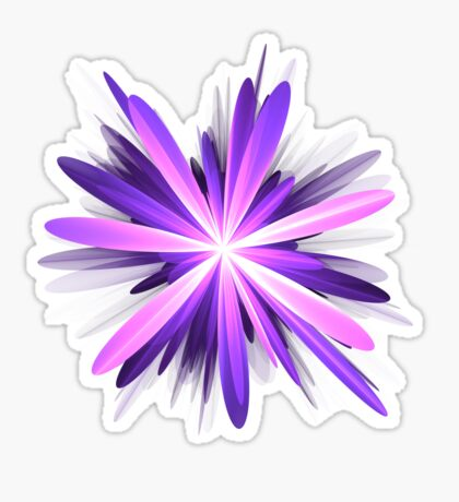Flower blast #fractal art Sticker