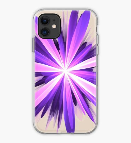 Flower blast #fractal art iPhone Case