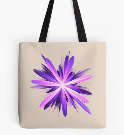 Flower blast #fractal art Tote Bag