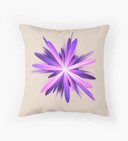 Flower blast #fractal art Throw Pillow