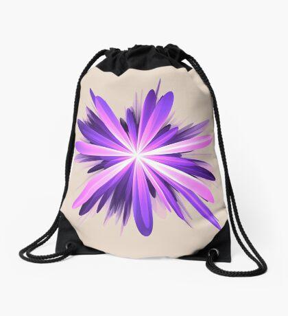 Flower blast #fractal art Drawstring Bag