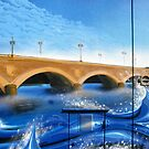 Pont de Pierre Mural - Bordeaux by Marilyn Harris