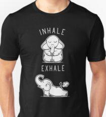 Funny Elephant Inhale Exhale Yoga Unisex T-Shirt