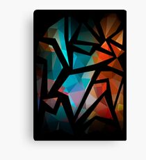 Abstract background of triangles polygon print. Bright dark design colors Canvas Print