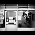 Launderette in Black and White by Ed Sweetman