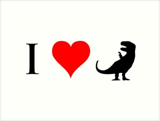 I Love Dinosaurs (small) by jezkemp