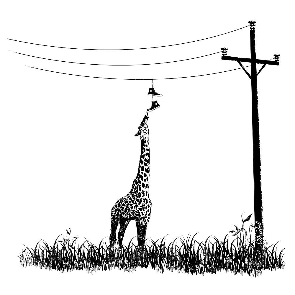 Hungry Hungry Giraffe by Decibel Clothing by Decibel Clothing