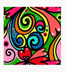 Psychedelic Love Abstract Photographic Print