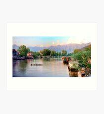 jhelum river, srinagar (1988) Art Print