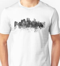 Minneapolis skyline in black watercolor on white background Unisex T-Shirt
