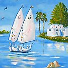 Feluccas on the Nile by Marilyn Harris