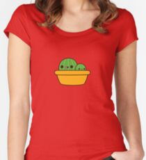 Cute cactus in yellow pot Women's Fitted Scoop T-Shirt