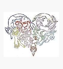 Tribal Eeveeloutions heart Photographic Print