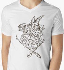 Tribal Dark Magician Dark Magician Girl Mens V-Neck T-Shirt