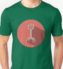 Bacteriophage flat Unisex T-Shirt