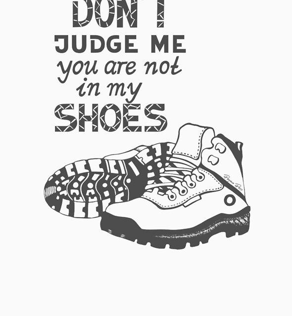 Don't Judge Me - Grey by DeyanaDeco