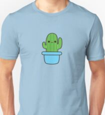 Cute cactus in blue pot Unisex T-Shirt