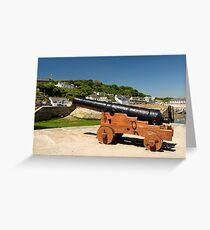 Harbour Gun, Porhtleven Greeting Card