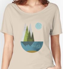 Earth, geometric print Women's Relaxed Fit T-Shirt