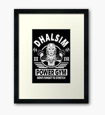 Street Fighter, Dhalsim Power Gym Framed Print