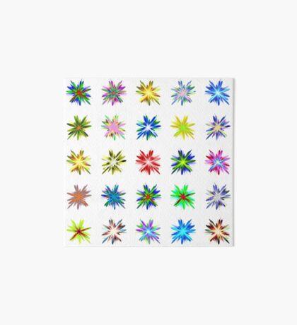 Flower blast structured chaos #fractal art Art Board Print