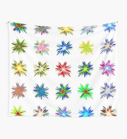 Flower blast structured chaos #fractal art Wall Tapestry
