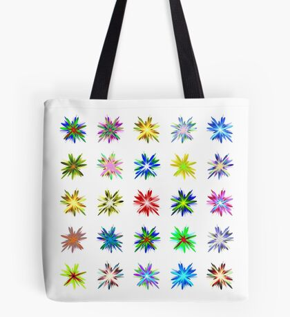 Flower blast structured chaos #fractal art Tote Bag