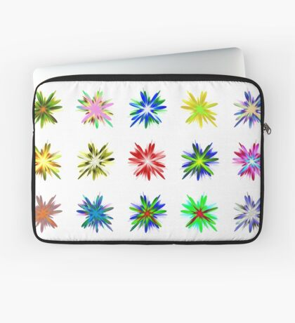 Flower blast structured chaos #fractal art Laptop Sleeve