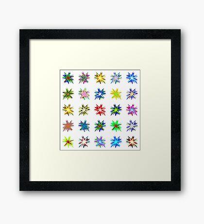 Flower blast structured chaos #fractal art Framed Print