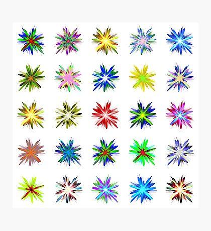 Flower blast structured chaos #fractal art Photographic Print