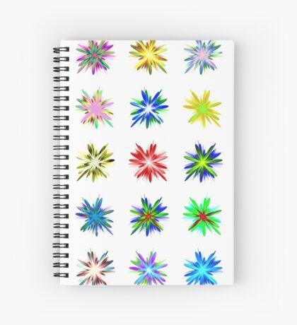 Flower blast structured chaos #fractal art Spiral Notebook