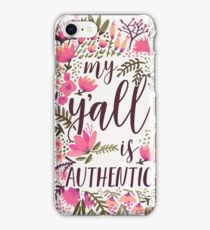 My Y'all is Authentic – Vintage Palette iPhone Case/Skin
