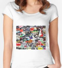 cassette tape Women's Fitted Scoop T-Shirt