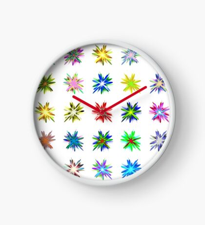 Flower blast structured chaos #fractal art Clock