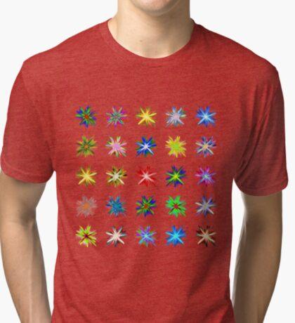 Flower blast structured chaos #fractal art Tri-blend T-Shirt
