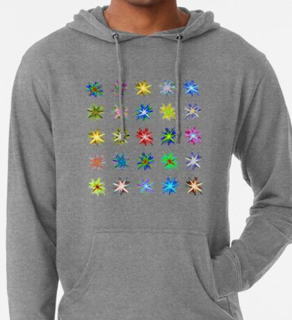 Flower blast structured chaos #fractal art Lightweight Hoodie