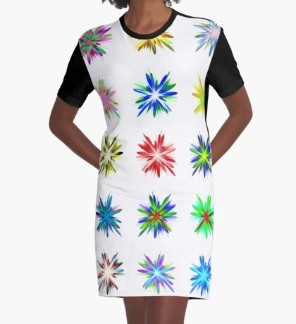 Flower blast structured chaos #fractal art Graphic T-Shirt Dress