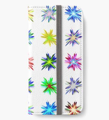 Flower blast structured chaos #fractal art iPhone Wallet