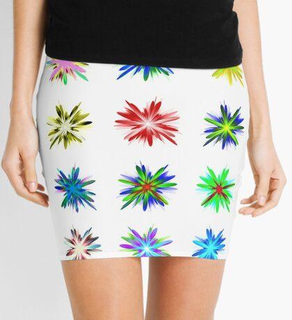 Flower blast structured chaos #fractal art Mini Skirt