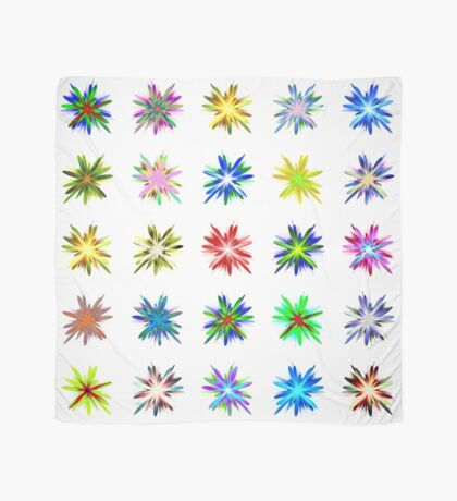 Flower blast structured chaos #fractal art Scarf