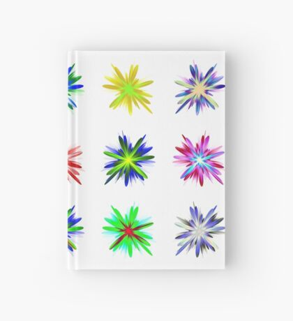 Flower blast structured chaos #fractal art Hardcover Journal