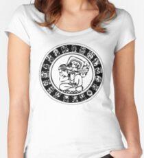 Mesoamerica - calendar bw Women's Fitted Scoop T-Shirt