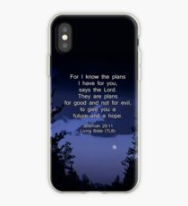 Bible Verse: Jeremiah 29:11 Words of Hope for the Future iPhone Case