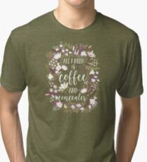 Coffee & Concealer – Spring Palette Tri-blend T-Shirt