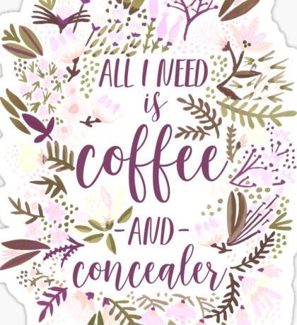 Coffee & Concealer – Spring Palette Sticker