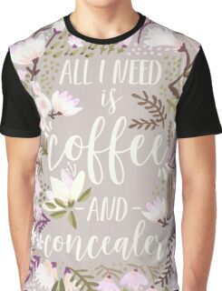 Coffee & Concealer – Spring Palette Graphic T-Shirt