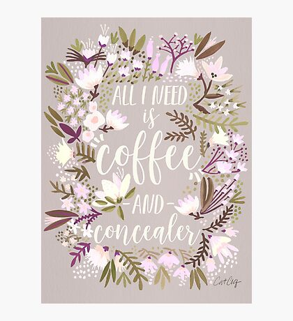 Coffee & Concealer – Spring Palette Photographic Print