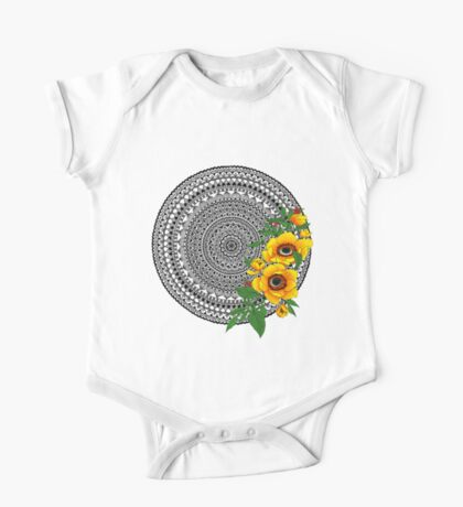 Golden poppy mandala Kids Clothes